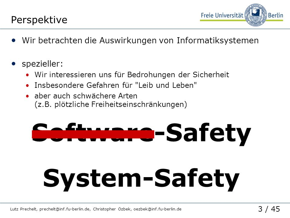 Software-Safety System-Safety