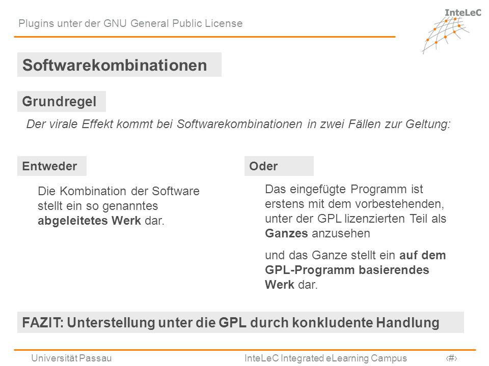 Softwarekombinationen