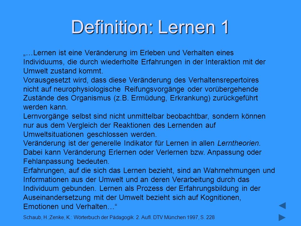 Definition: Lernen 1