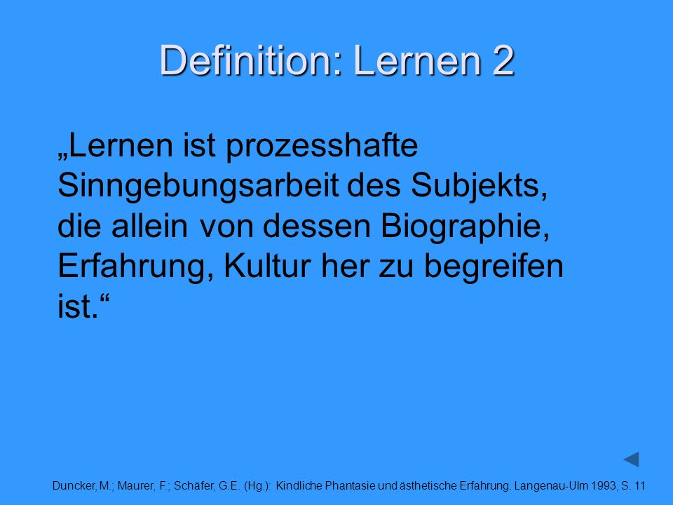 Definition: Lernen 2