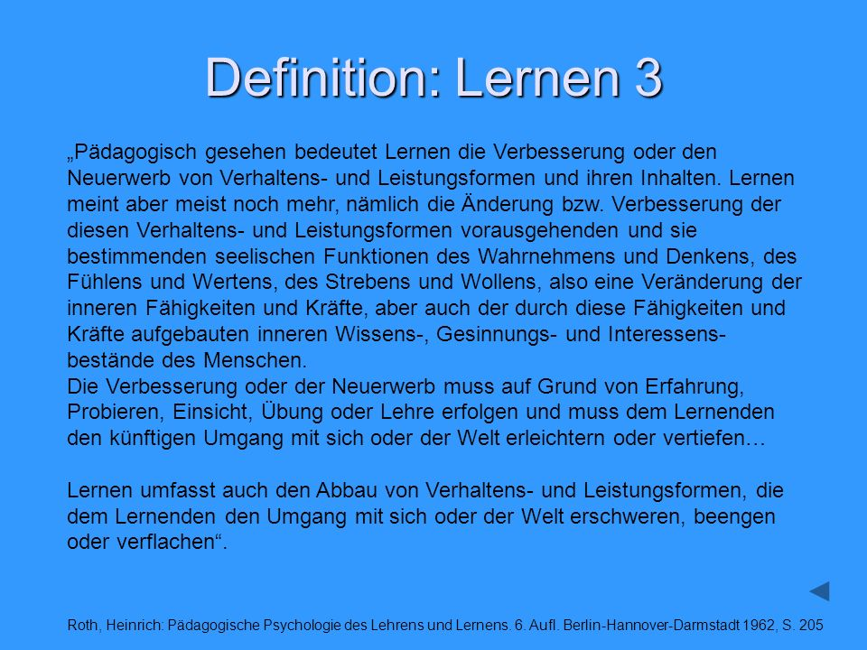 Definition: Lernen 3
