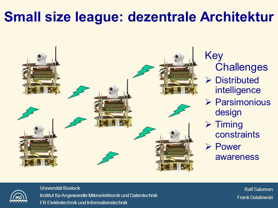 Small size league: dezentrale Architektur