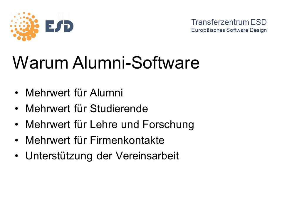 Warum Alumni-Software