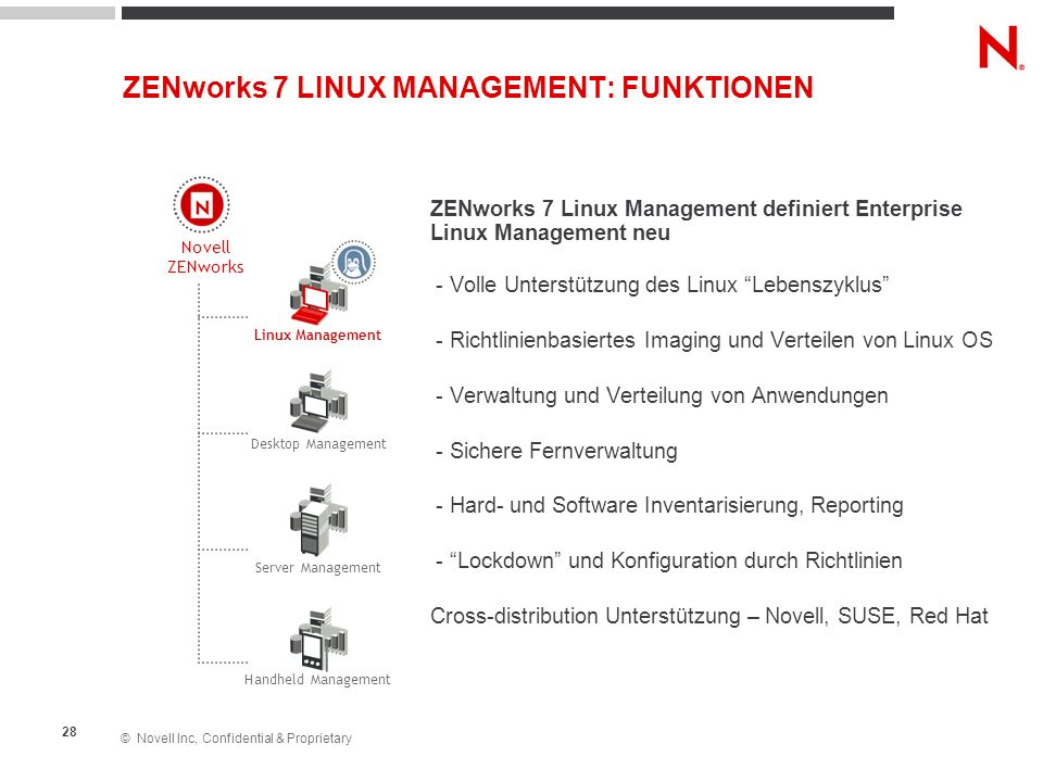 ZENworks 7 LINUX MANAGEMENT: FUNKTIONEN