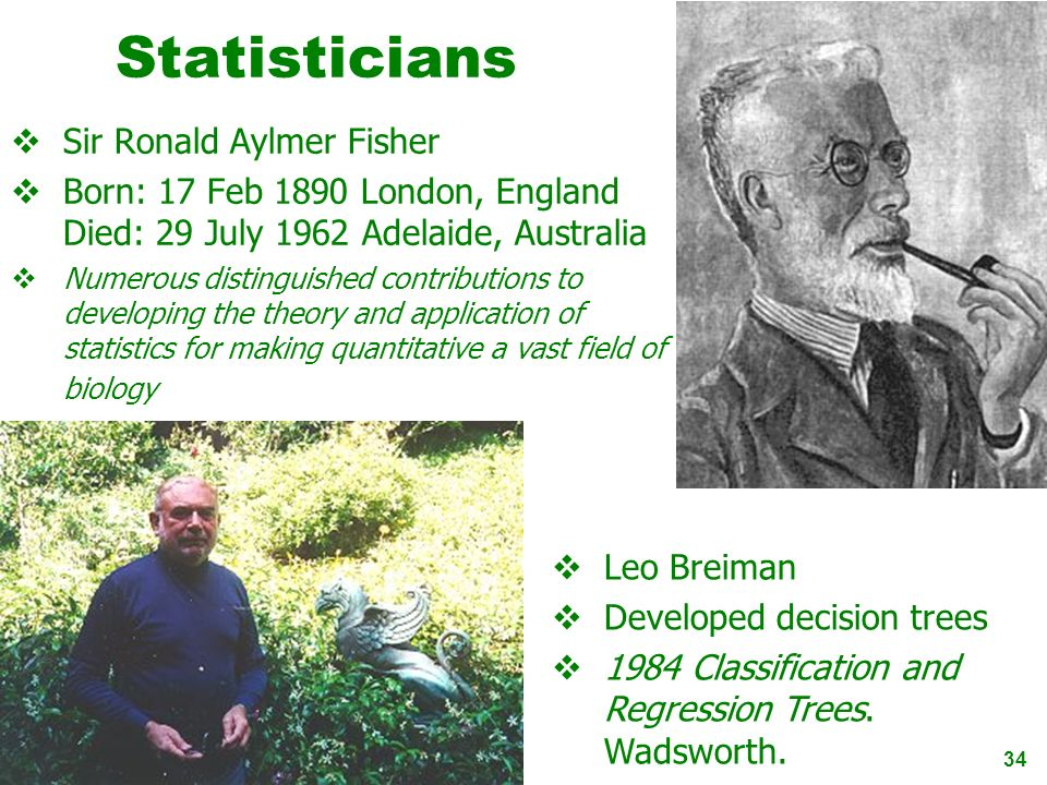 Statisticians Sir Ronald Aylmer Fisher