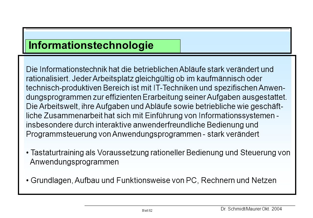 Informationstechnologie