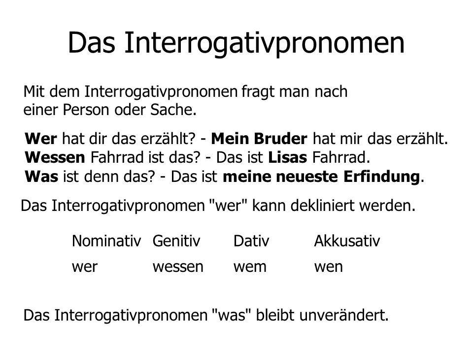 Das Interrogativpronomen