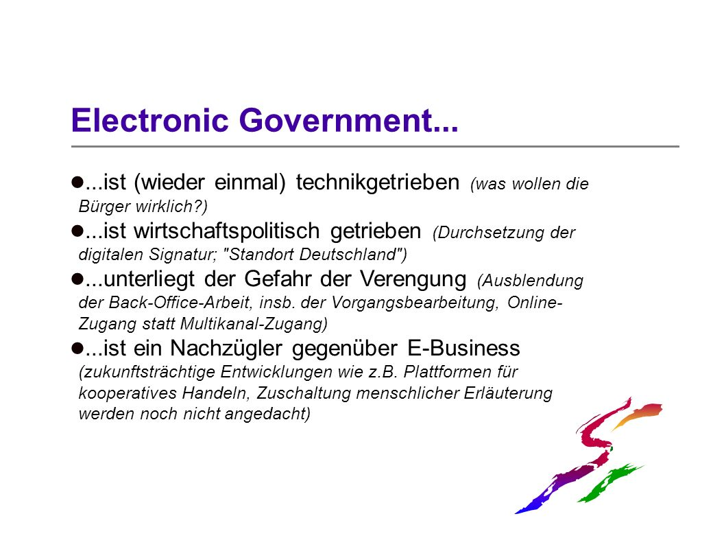 Electronic Government...