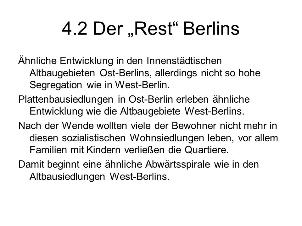 "4.2 Der ""Rest Berlins"