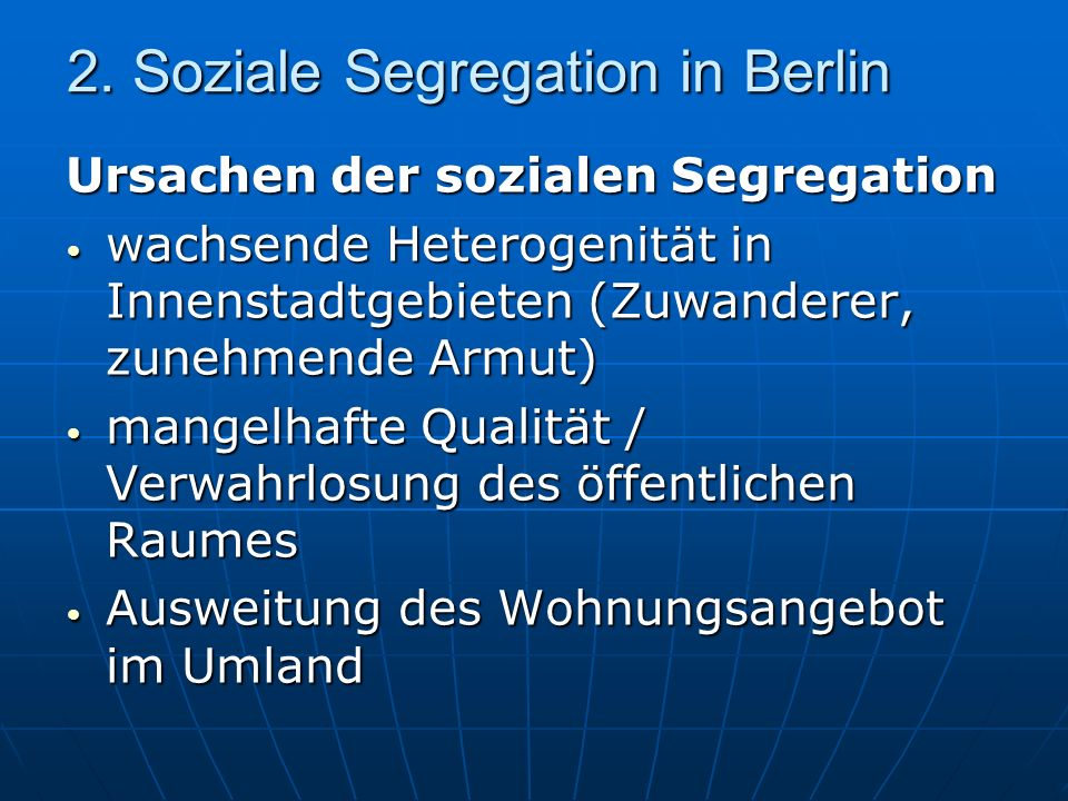 2. Soziale Segregation in Berlin