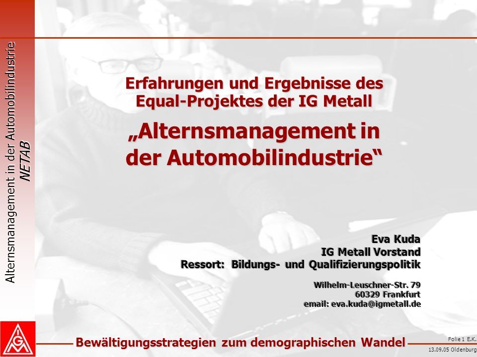 """Alternsmanagement in der Automobilindustrie"