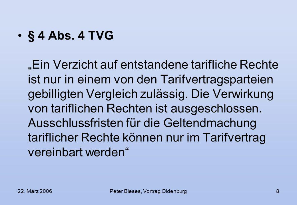 Peter Bleses, Vortrag Oldenburg