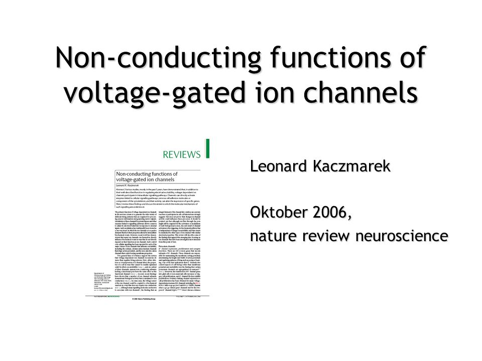 Non-conducting functions of voltage-gated ion channels