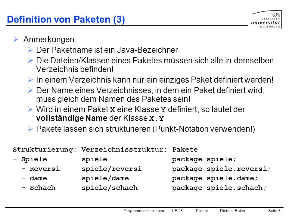 Definition von Paketen (3)