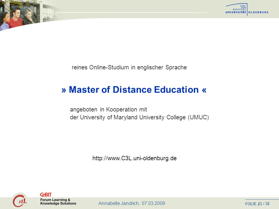» Master of Distance Education «