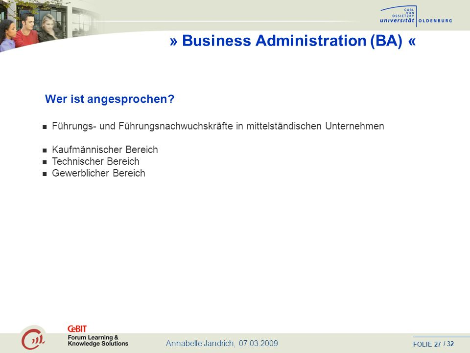 » Business Administration (BA) «