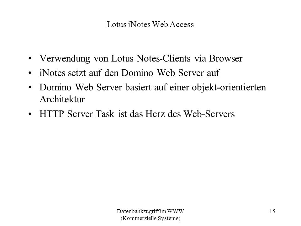 Lotus iNotes Web Access