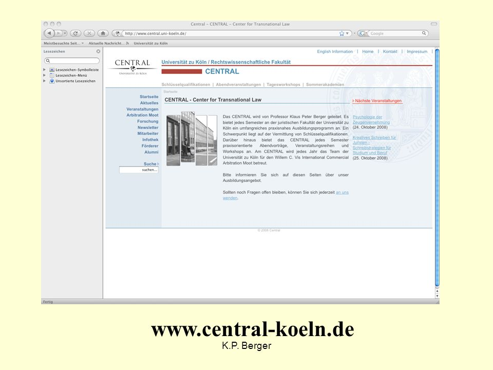 www.central-koeln.de K.P. Berger