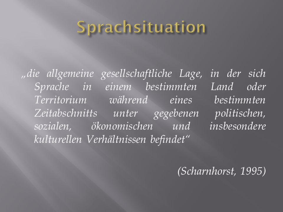 Sprachsituation