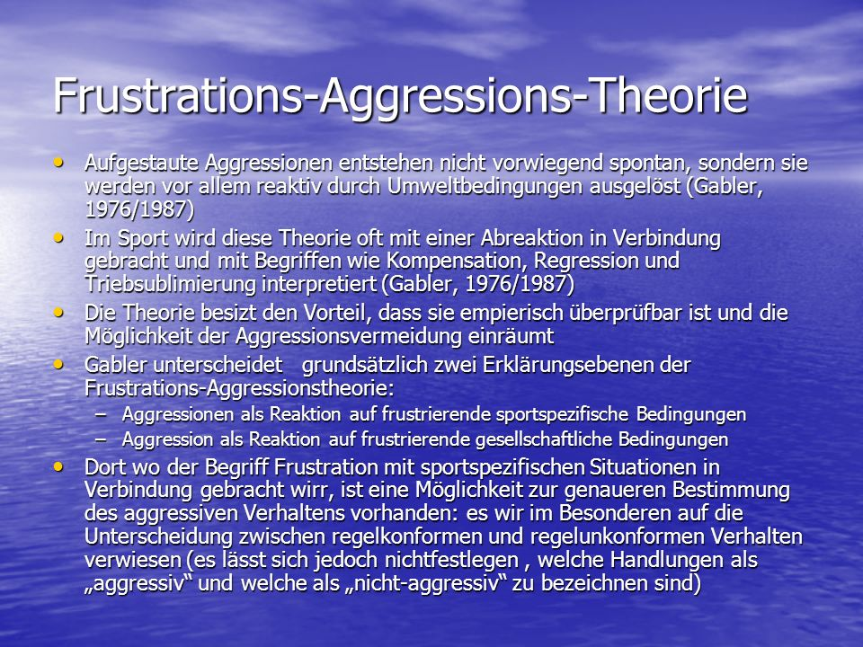 Frustrations-Aggressions-Theorie