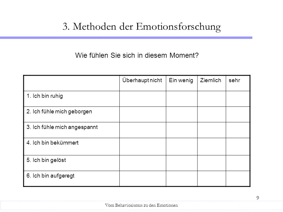 3. Methoden der Emotionsforschung