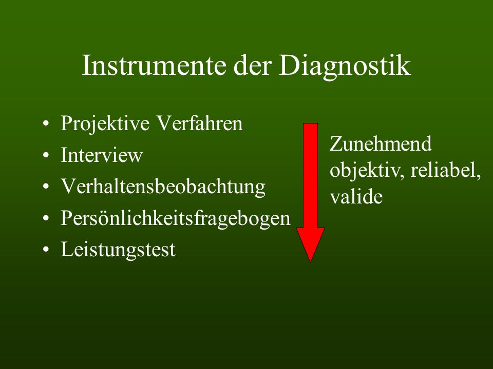 Instrumente der Diagnostik
