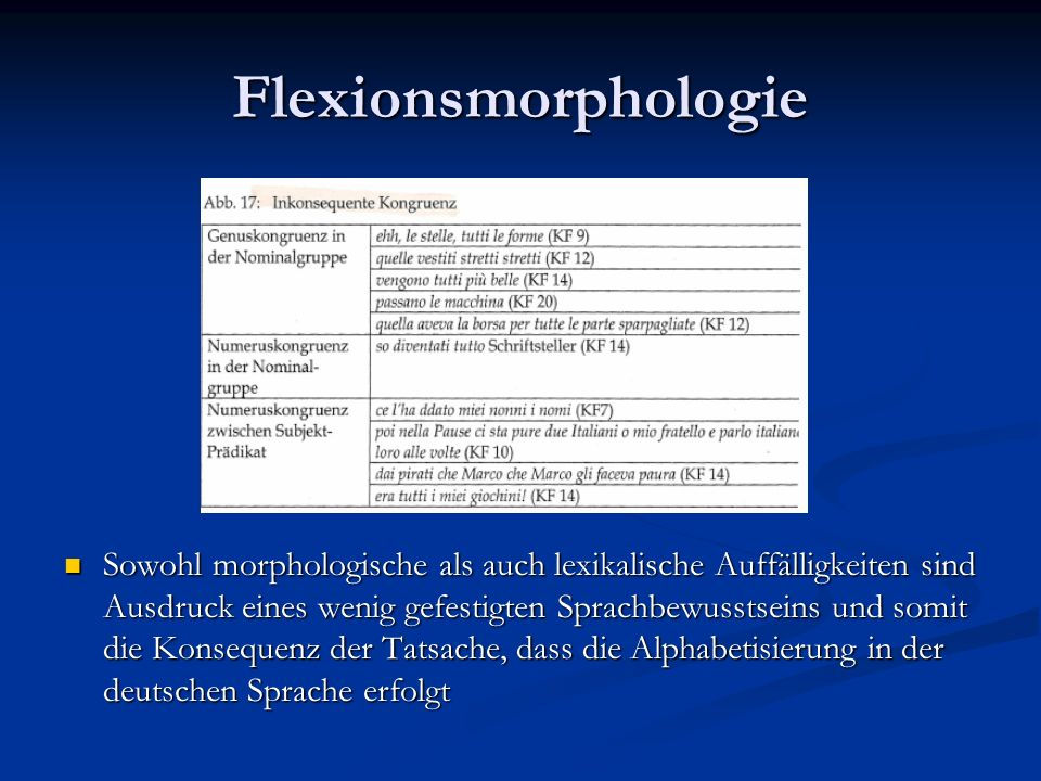 Flexionsmorphologie