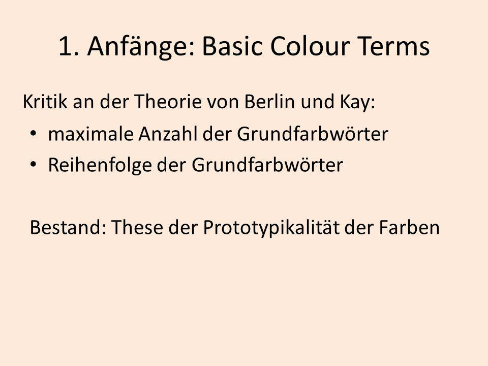 1. Anfänge: Basic Colour Terms