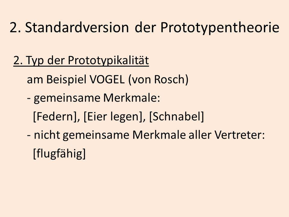 2. Standardversion der Prototypentheorie