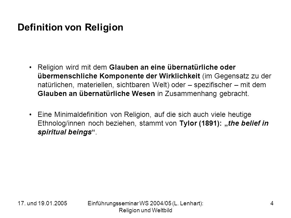 Definition von Religion