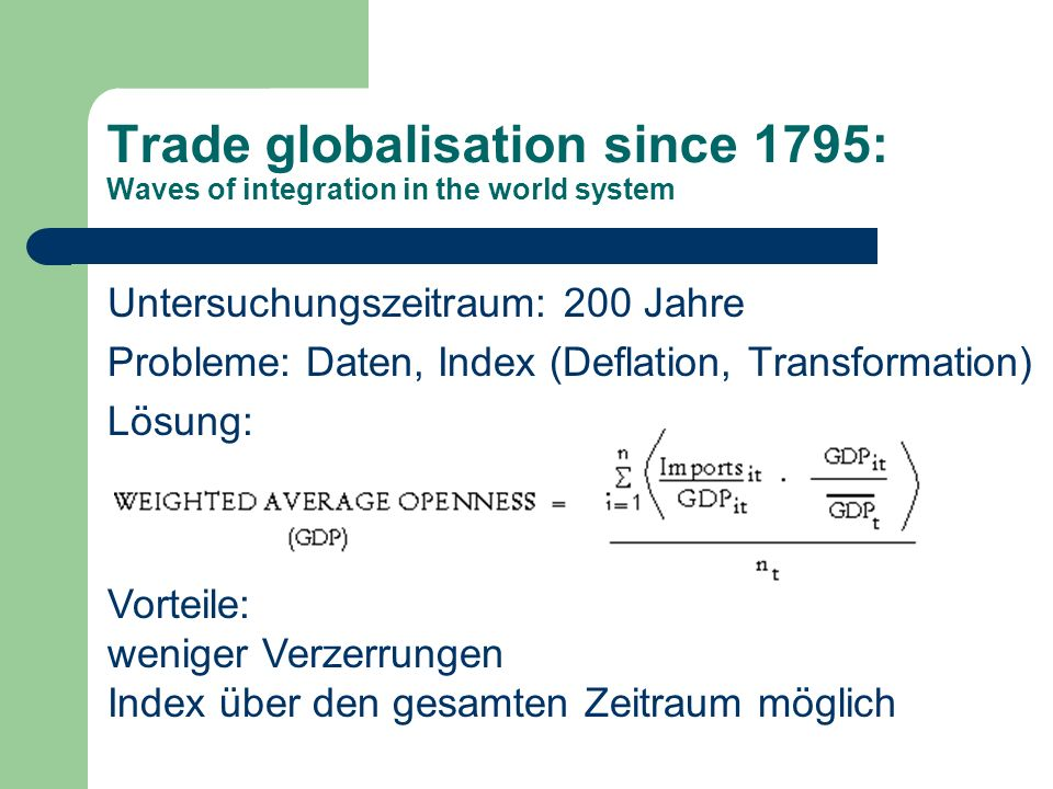 Trade globalisation since 1795: Waves of integration in the world system