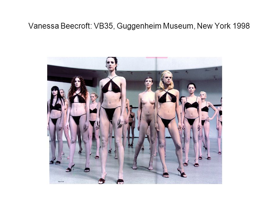 Vanessa Beecroft: VB35, Guggenheim Museum, New York 1998