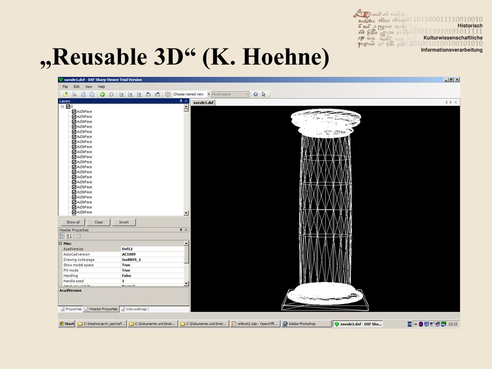 """Reusable 3D (K. Hoehne)"