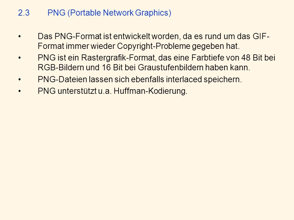 2.3 PNG (Portable Network Graphics)