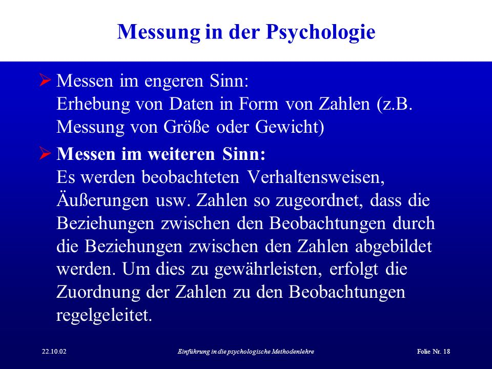 Messung in der Psychologie