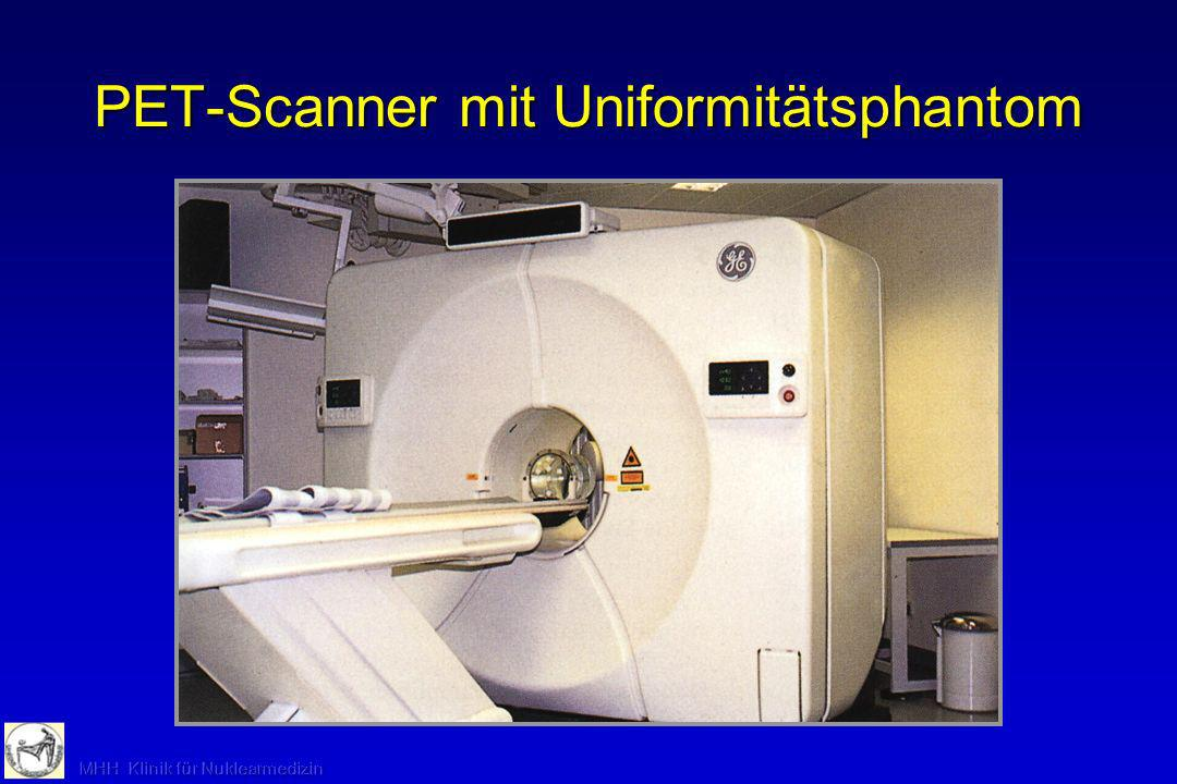 PET-Scanner mit Uniformitätsphantom