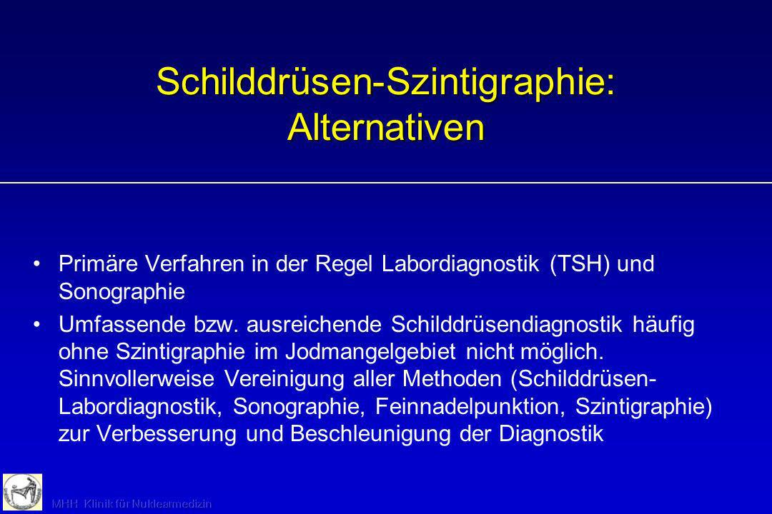 Schilddrüsen-Szintigraphie: Alternativen