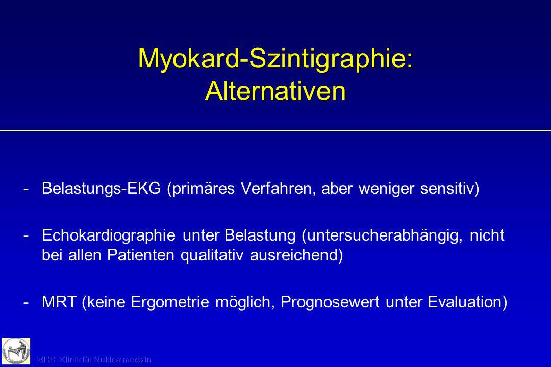 Myokard-Szintigraphie: Alternativen
