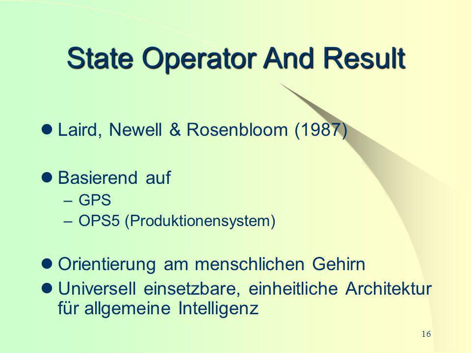 State Operator And Result