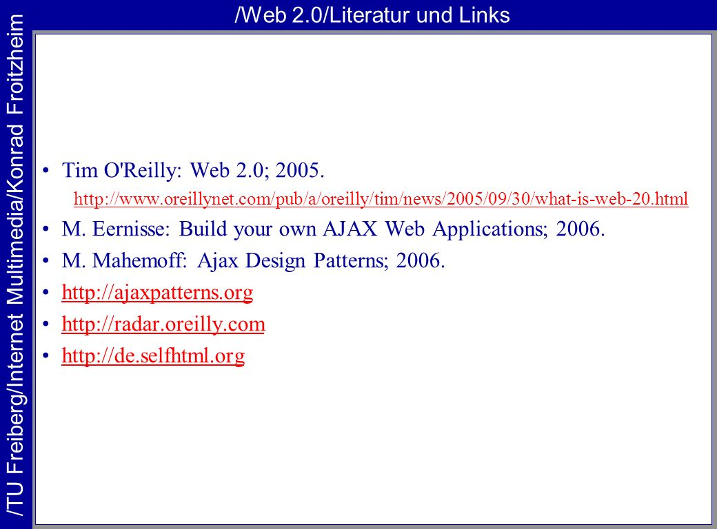 /Web 2.0/Literatur und Links
