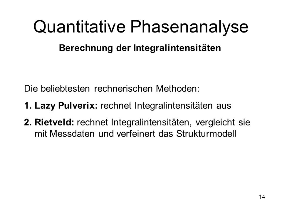 Quantitative Phasenanalyse