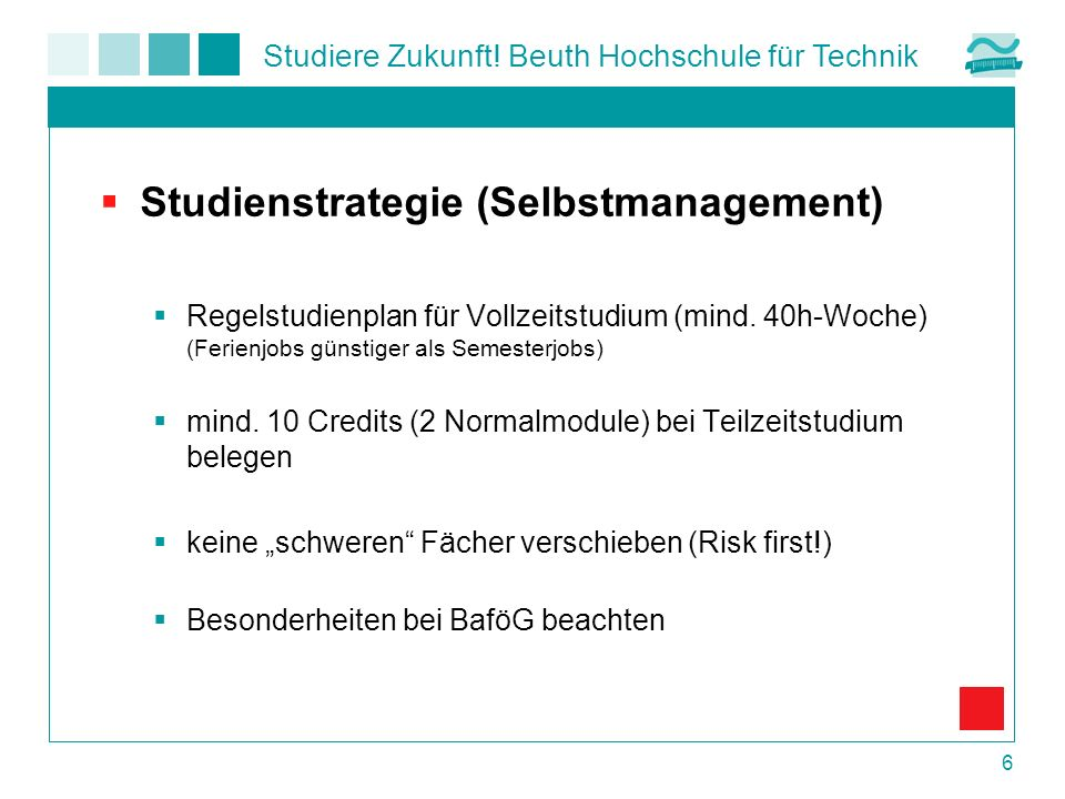 Studienstrategie (Selbstmanagement)