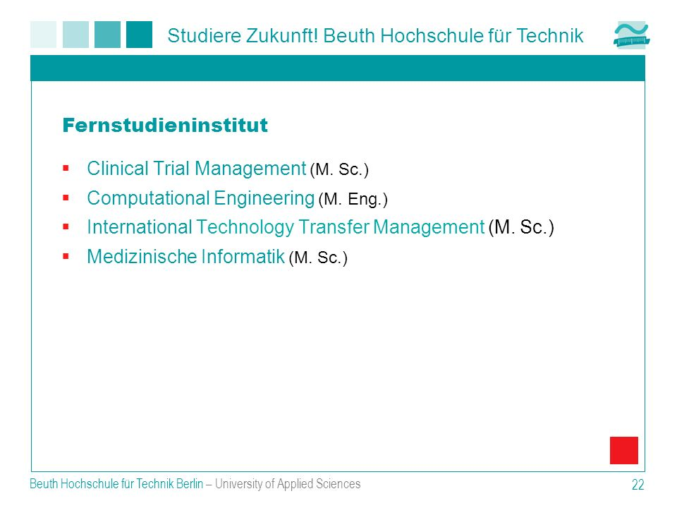Fernstudieninstitut Clinical Trial Management (M. Sc.)