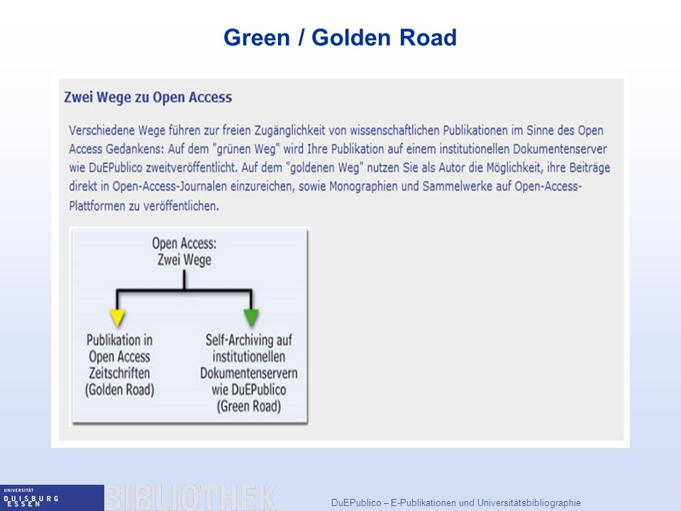 Green / Golden Road