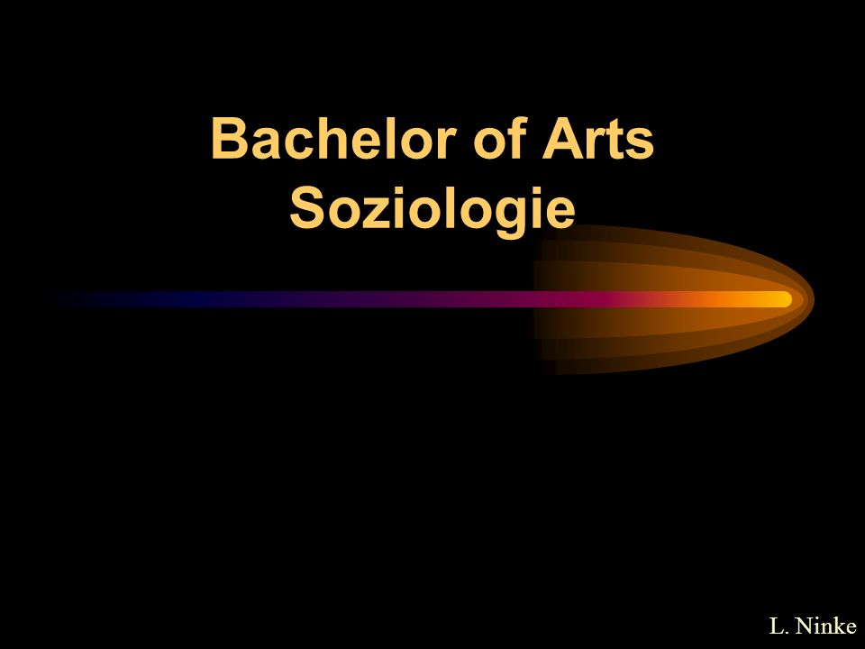 Bachelor of Arts Soziologie
