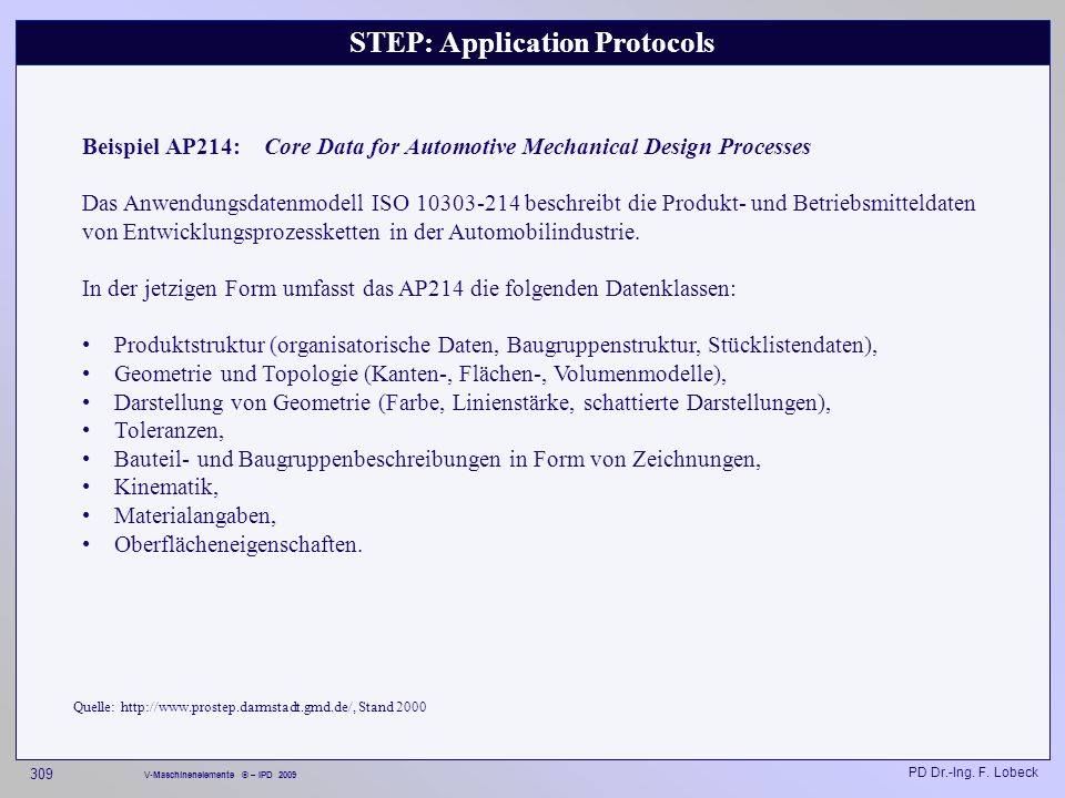 STEP: Application Protocols