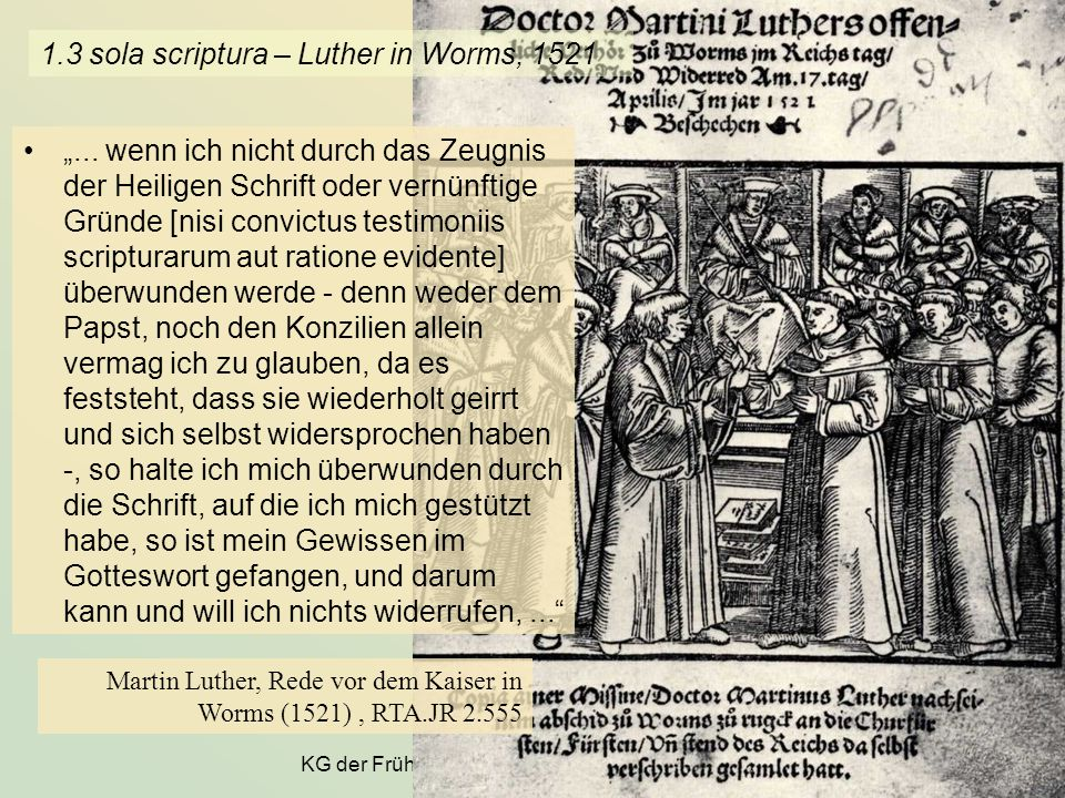 1.3 sola scriptura – Luther in Worms, 1521