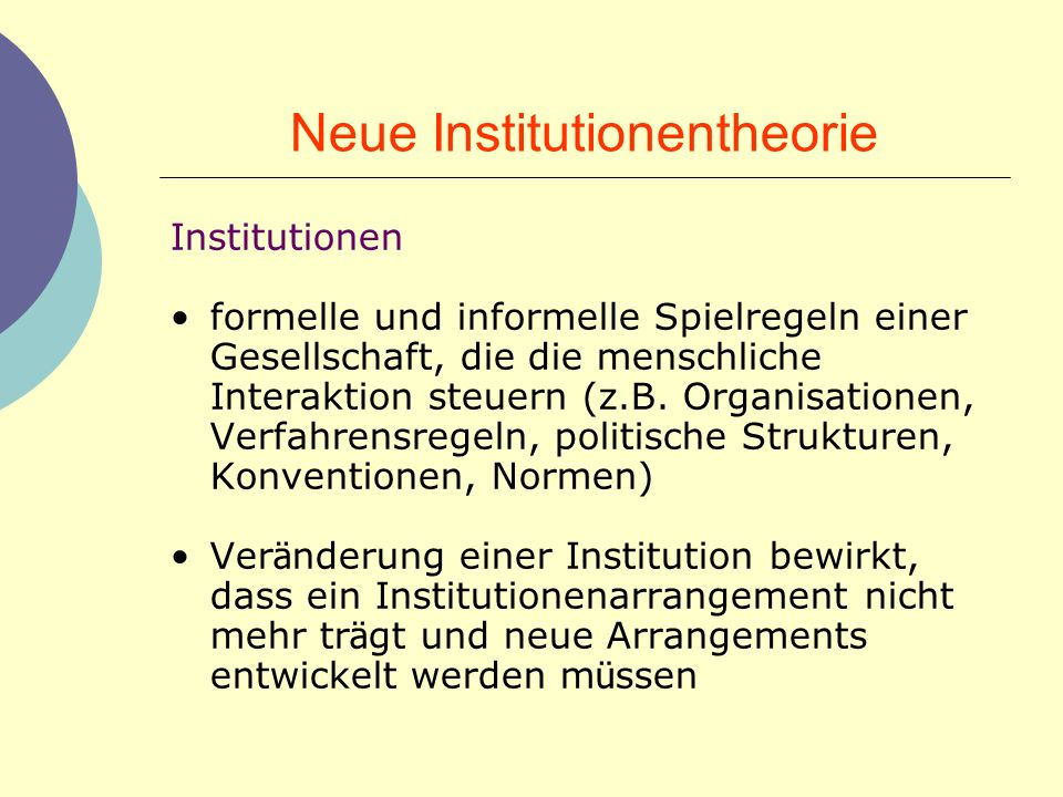 Neue Institutionentheorie