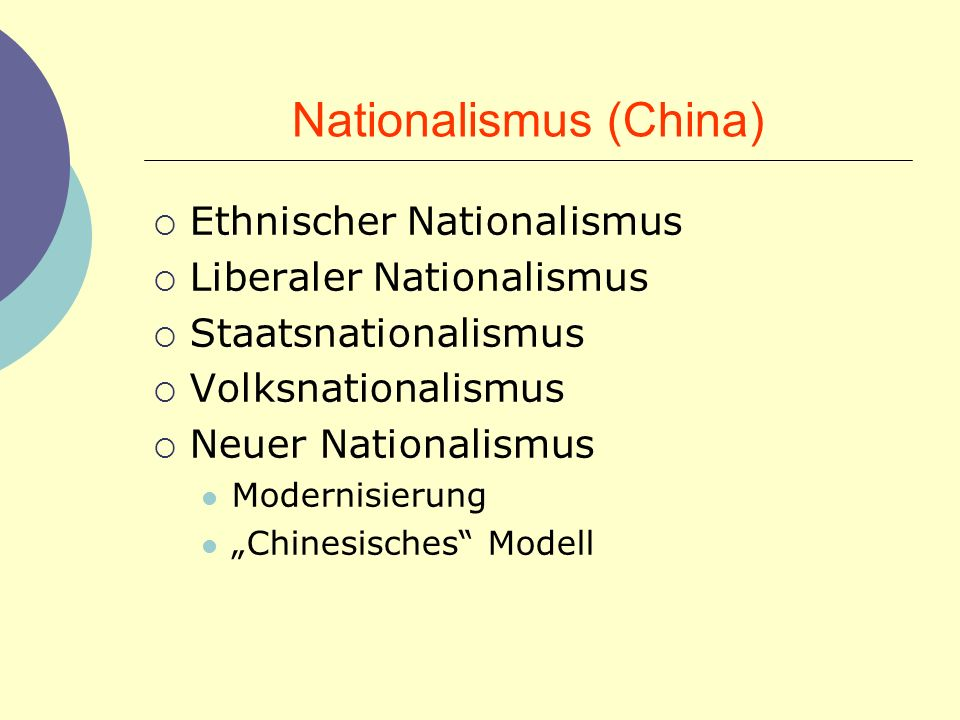 Nationalismus (China)
