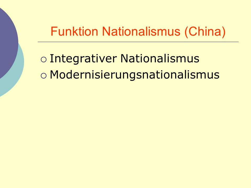 Funktion Nationalismus (China)